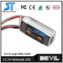 New Brand High Quality Devil 11.1v 860mah 20C lipo battery pack for any Helicopter Quadcopter Airplane Boat Car Controller
