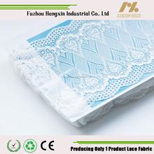 white nylon spandex organza lace trim fabric for fashion design bra