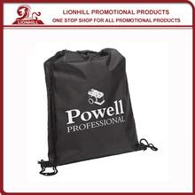 promotional custom plastic drawstring sports backpack
