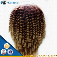 wholesale short right side remi brazilian virgin human hair cheap afro kinky curly ombre u part wigs