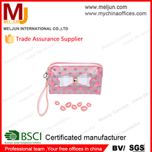 Fashion Cosmetic Bag Zipper flowers Make Up case Storage Bags Organizer PVC