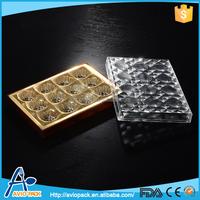 Specialized design rectangular plastic chocolate packaging box
