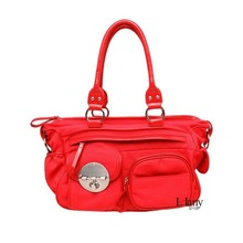 Chinese traditional red ladies handbag, with metal decoration and good quality, cheap price.