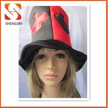 Best selling poker embroidered compound sponge Carnival party hat 2015