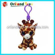 plush keychain toy custom cute plush animal keychain