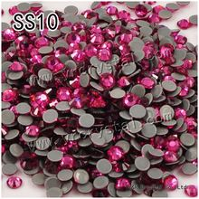 2058HF SS10 rose 1440pcs heat iron on High Quality Hot Fix Glue on crystals hotfix