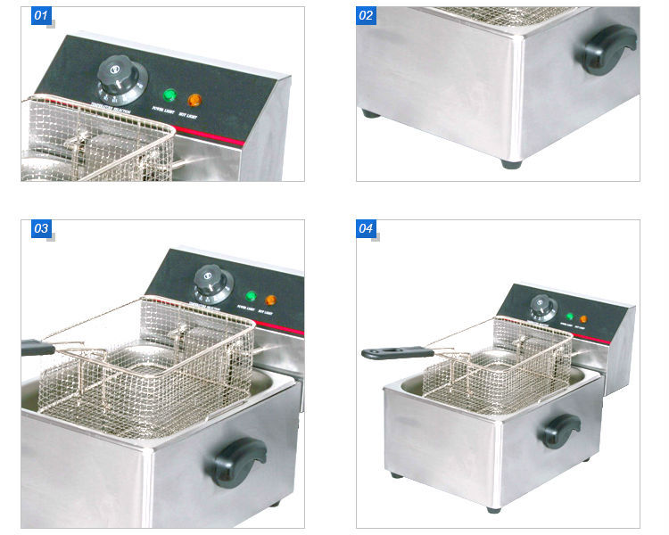 Stainless Steel Commercial Deep Fryer Frying Machine Electric Chicken Fryer Machine