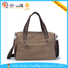 2015 hot selling waterproof Chinese factory made brown tote duffle leather travel bag