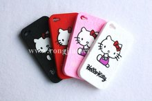 Lovely silicone Hello kitty case cover for Iphone 4GS phone case