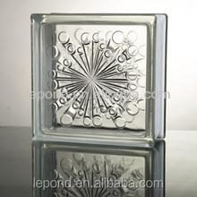 China Glass Blocks /Clear Diamond patterned glass block