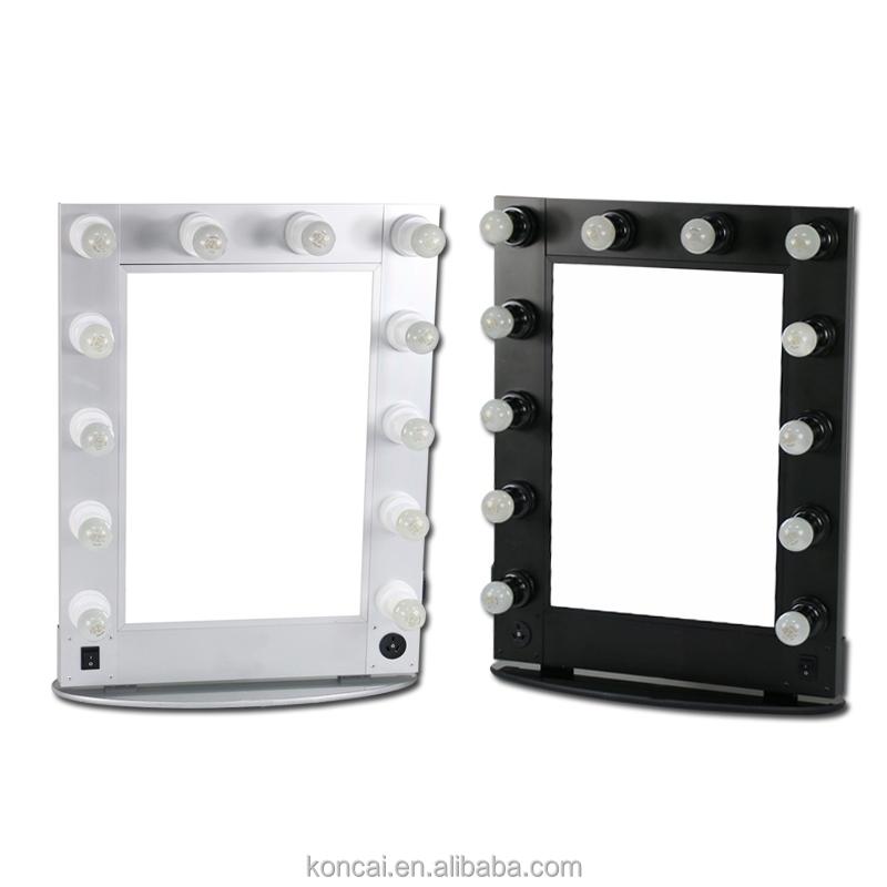 Kaptafel spiegel met licht - Witte kapper ...