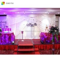 IDA stage props for sale/white background wedding hall decoration/indoor hall glass stage wedding decor(IDAB1764)