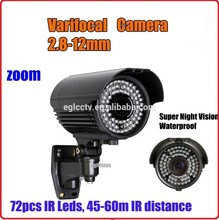 HD IP PTZ 960P 1.3MP varifocal 2.8-12mm p2p infrared bullet rs-485 cctv zoom camera system sd