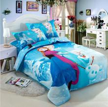 wholesale frozen anna elsa bedding sets 3pcs, Quilt Cover, Bed Sheet, Pillow Case