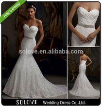 suzhou beaded wedding dress blue colour wholesale