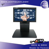 7 inch 5:3 Desktop single touch 800x480 Resistive Touch Screen Monitor