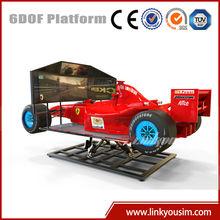 Linkyou f1 car racing driving simulator 3d racing car game machine