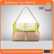 SPU-003 Shoulder bag style and women gender Semi PU leather handbags