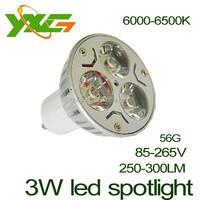 High quality led lighting Aluminum E27 3W high power LED Spotlight 110V 220V warm & cool white Wholesale