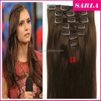 Wholesale 7pcs/set Clip Virgin Hair Extension Brazilian Hair Unprocessed Multi-color Available
