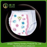 Super slim plastic baby diaper pants L size