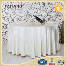 Wrinkle Free Round Waterproof White Triangle Linen Table Cloth