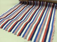 Red Blue White Cotton Stripe Fabric