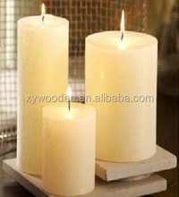rustic low temperature wholesale wedding pillar candles