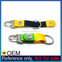 Wholesale New Design Customized Metal Leather Carabiner Keyring