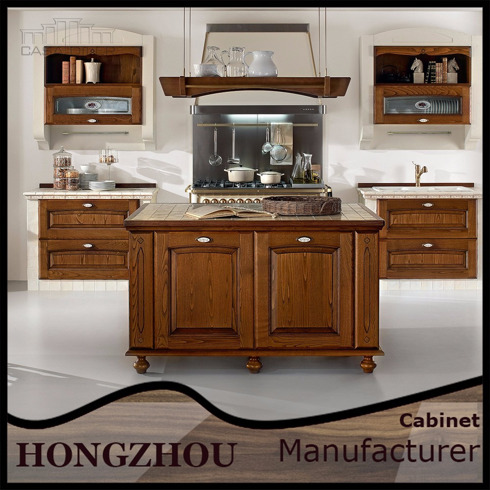 2015 best new style solid wood kitchen cabinet from foshan for Best woods for kitchen cabinets