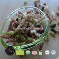 Jasmine orgánica multi- color y pasta fusilli