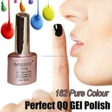 #20962-162 Pure Colour QQ Gel Polish, Soak off UV/LED Color Gel, Nail Art Gel Varnish