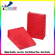 Custom Design Red Spot Printing Kraft Gift Bags