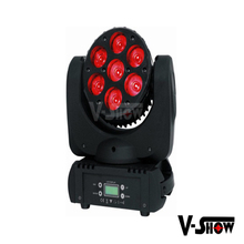 High speed 7x12w RGBW 4IN1 mini leds beam moving head manual lights