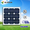 Bluesun factory direct supply 20w 25w 30w 40w 50w led street light solar panels 25w