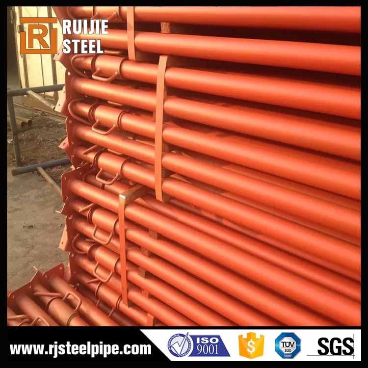Galvanisé ou peint échafaudages prop, réglable longueur 1.8 à 3.0 m en acier prop