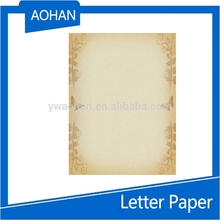 Personnalisé coloration papier à lettres avec conception, D'affaires modèle lettre pad conception
