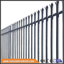 Hot sale high security galvanized and pvc coated steel palisade fencing