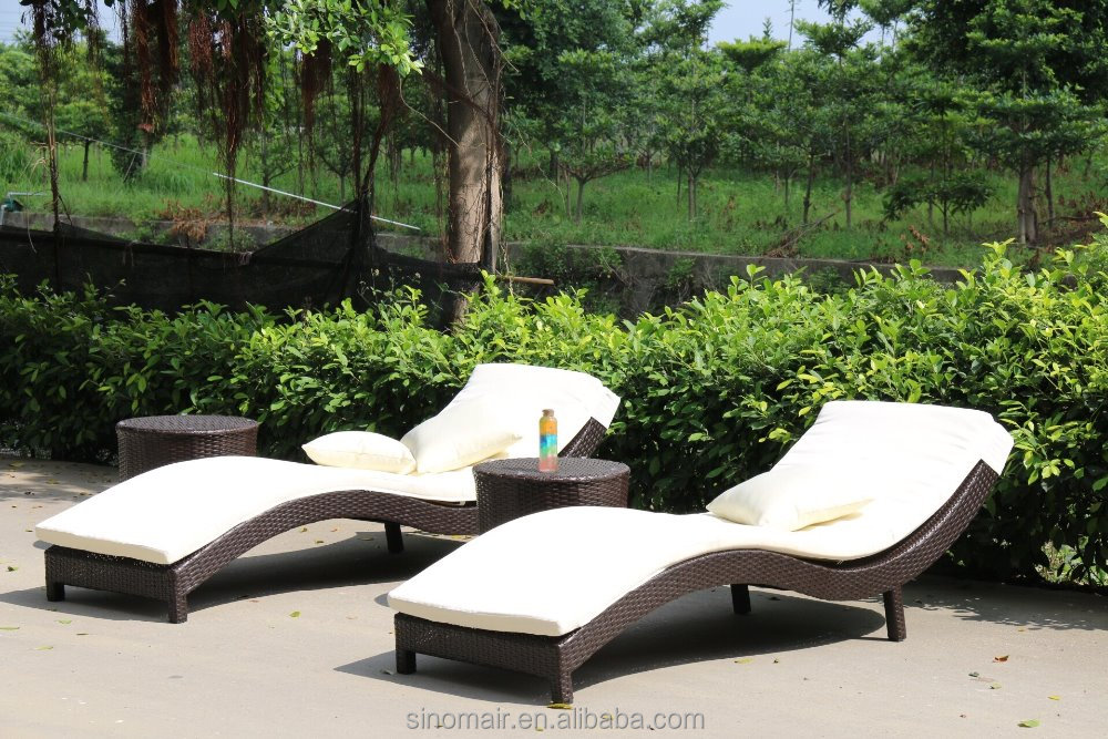 1b132 outdoor swimming pool rattan wicker sunlounge daybed for Outdoor pool daybeds