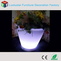 Color changing waterproof plastic led flower pot