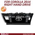 Toyota corolla 2014 mano derecha unidad de dvd para el coche gps con navegación gps, bluetooth, de radio, el ipod, tv, 3g