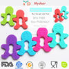 2014Chewable silicone teething toys&pendent baby teether and rattle