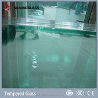 Tempered decorative bubble glass panels