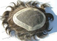 hot selling 6'' v-loop gray hair thin skin toupee for men