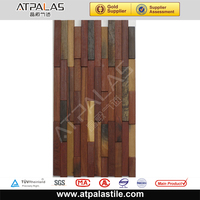 600x300mm ancient boat wood mosaic tile