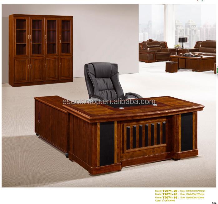 T2071 executivo luxo madeira maci a mobili rio de for Modelos de escritorios para oficina