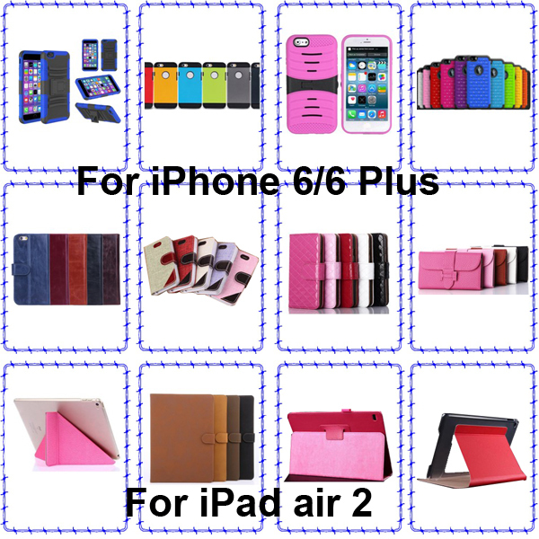 For iPhone 6 leather case, For iPhone 6 plus wallet leather case in wholesales