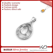 XD p945 925 sterling silver drop interface dedicated bottom pendant mountings 925 silver inlay pendants mountings