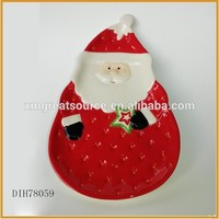 Pretty red style custom design cheap christmas dishes