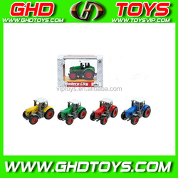 Mini funny pull back toys, pull back die cast truck, alloy tractor for children